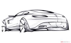 Report - Official sketches of Mercedes AMG GT surface online Mercedes Amg, Car Design Sketch, Car Sketch, Bike Sketch, Design Autos, Bmw Autos, Industrial Design Sketch, Audi, Car Drawings
