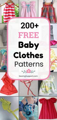 200 Free Baby Clothes Patterns Free Baby Clothes Patterns 200 free baby clothes sewing patterns tutorials and diy projects Sew baby dresses rompers tops pants hats and more Many great ideas for baby shower gifts SewingSupport Baby Clothes Baby Dress Patterns, Baby Clothes Patterns, Sewing Patterns Free, Free Sewing, Clothing Patterns, Sewing Tips, Sewing Hacks, Sewing Tutorials, Baby Romper Pattern Free
