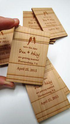 De kaarten van de bruiloft datum bruiloft magneet door GrainDeep