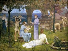 Between Art and Nature (detail) - Pierre Puvis de Chavannes