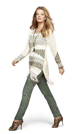 Chico's Pattern Fringe Valentina Sweater  #chicossweeps