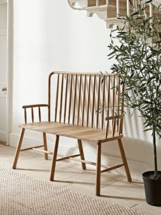 Scandinavian inspired in design and flawlessly finished, our spindle back bench is crafted from solid mellow oak with subtle wood grain and circular join details. The distinctive, elegant design will add a point of interest to your living space, while the seats are moulded for extra comfort. Dress with a cushion or throw to add warmth and texture.