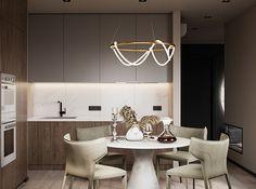 "Apartment in Kharkiv ZHK ""Dom na Sokol'nikakh"" - Dezign Ark (Beta) Home Room Design, Dream Home Design, Living Room Tv Unit Designs, Bathroom Design Luxury, Cool House Designs, Modern Room, Apartment Design, House Rooms, Decoration"