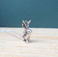 Sterling Jackalope Necklace from MADE