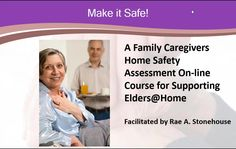 Make it Safe! A Family Caregiver's Home Safety Assessment Guide for Supporting Elders@Home is a compilation of safety tips, and sage advice to help support an elder in aging semi-independently and safely.  It begins with an overview of home safety. Then it provides a strategic method of completing an assessment of the home's safety status and develop strategies to rectify the problems or hazards to make the home safe.  This video is the first in the program. Home Safes, Safety Tips, Caregiver, Your Family, Assessment, Sage, Advice, Household, How To Make