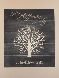 personalized family tree by wordsthatinspire on Etsy, $30.00