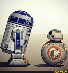I don't even care about the other characters, I only love R2D2 and BB8!