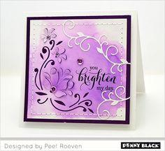 Penny Black craft dies 51-351 Pop Up Floral Corner | 51-322 Vine Borders