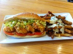 Rock & Run Brewery -  We had it ourselves...then we had it again! Shrimp Po'Boy in 'da house ya'll! Find your inner Cajun #KC!