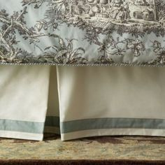 Camille Toile Daybed Bedskirt