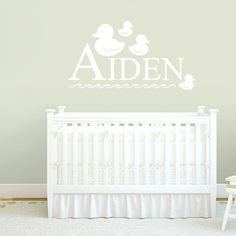 Custom Name With Ducks Nursery & Kids Decorative Wall Decals and Stickers
