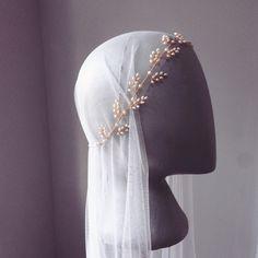 Delice Vine & Juliet cap veil – Kelly Spence Bridal Accessories