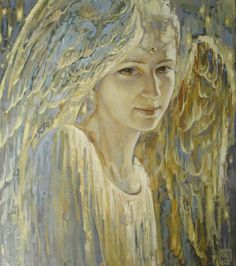 Angel - Kikel Vladimir Borisovich (Russian, b. Angels Among Us, Angels And Demons, Seraph Angel, Entertaining Angels, Angel Artwork, Angel Guide, I Believe In Angels, Angel Pictures, Illustration Art