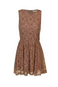 Bridesmaid Lace Dress Brown, with cowboy boots.