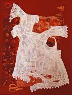 Design Decoration Craft: Diane Savona and Closet Archaeology Textile Fiber Art, Textile Artists, Fibre Art, Textiles, Fabric Manipulation, Contemporary Artists, Textile Design, Archaeology, Collage Art