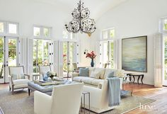 Traditional White Living Room with Pale Accents | LuxeSource | Luxe Magazine - The Luxury Home Redefined