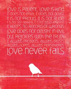 1 Corinthians 13.4-8