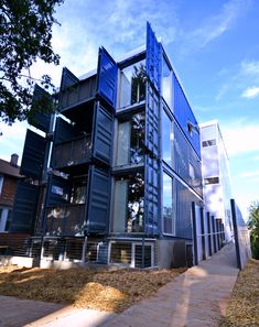 Shipping-container home SeaUA apartment exterior