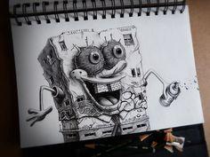 Distroy Part.2   Illustrator: PEZ #pencil #sketch #graffiti