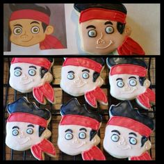 Jake and the Neverland Pirates Beach Ball Cupcakes, Neverland, Pirates, Cookies, Cookie Recipes, Finding Neverland, Cookie, Biscotti, Snack Cakes