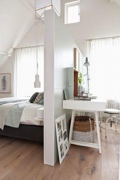 Zona de trabajo con dormitorio : via MIBLOG