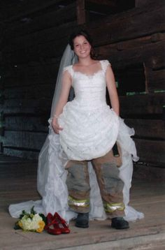 Firefighter Wedding. Katrina should do this!