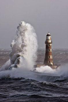 Lighthouse & mega wave