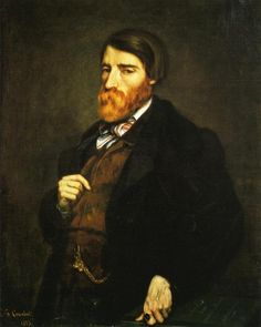 Portrait of Alfred Bruyas (Painting Solution), 1853 by Gustave Courbet. Realism. portrait. Musée Fabre, Montpellier, France