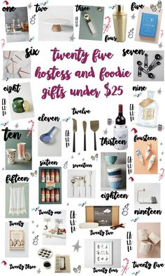 The ultimate Christmas gift guide including the best Christmas foodie and hostess gift ideas for women under $25!