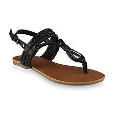 Attention Women's Remy Black Slingback Sandal