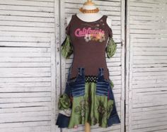 15% OFF Sweater Tunic L/XL Upcycled Clothing by AnikaDesigns
