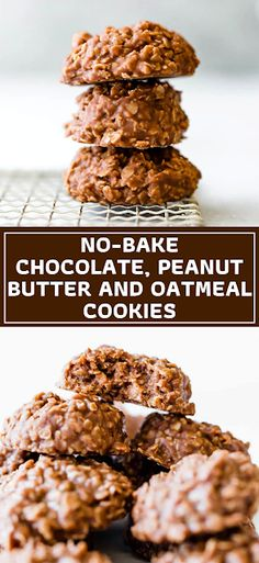 These easy no-bake chocolate, peanut butter, and oatmeal cookies are a classic; they come together in minutes and are great to make with kids. - The ingredients and how to make it please visit the website Best Dessert Recipe Ever, Best Easy Dessert Recipes, Dessert Recipes With Pictures, Quick Easy Desserts, Sweets Recipes, Easy Recipes, Hot Desserts, Desserts Menu, Cheesecake Desserts
