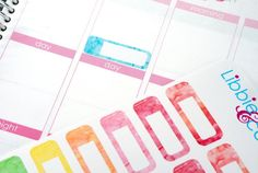 Water Color Appointment Box Life Planner Die-Cut Stickers! Set of 44 Perfect for the Erin Condren Planner!