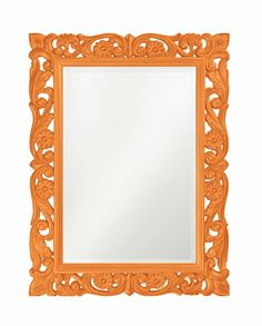 Love this bright floral mirror!