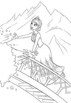 disney frozen coloring sheets | Walt Disney Coloring Pages - Queen Elsa - Walt Disney Characters Photo ...
