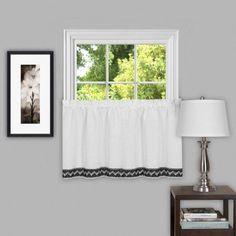 Camden Decorative Window Curtain Treatment, Black