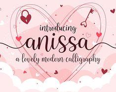 BrithosFontType on Etsy Handwritten Script Font, Cursive Fonts, All Fonts, Wedding Fonts, Wedding Invitations, Best Free Fonts, Font Free, Pretty Fonts, Vintage Typography