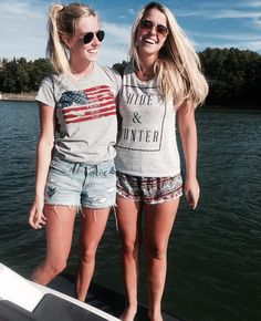 """Hide and Hunter on Instagram: """"Lake time on our mind  Grab up the last of ourtees in time for the fourth! #hotties #myhideandhunter #hideandhunter #wiw #lake #ga #merica #potd"""""""