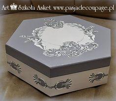 szkatułka decoupage print room - warsztaty u Asket