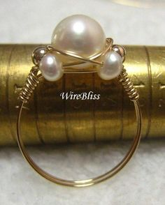 Wire Wrapped Thumb Ring Tutorial | TUTORIAL-Wire Wrapped Sparkly Crystal Ring | WireBliss - Jewelry on ...