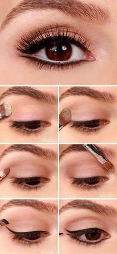 # Makeup 2018 Easy Summer Eye Make Up Tutorials for Beginners and Learners …. – Beauty Tips Makeup # Makeup 2018 Easy Summer Eye Make Up Tutorials for Beginners and Learners …. # Makeup 2018 Easy Summer Eye Make Up Tutorials for Beginners and Learners … Eyeliner Make-up, Black Eyeliner Makeup, Makeup Tutorial Eyeliner, How To Apply Eyeliner, Skin Makeup, Eyeliner Ideas, Makeup Brushes, Double Winged Eyeliner, Makeup Eyeshadow