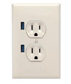 USB wall socket from thinkgeek.com
