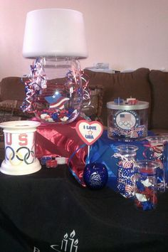 Olympic fun with the #PartyLite Clearly Creative Collection and customizable ScentGlow® Expressions warmer.   Photo credit: Jamie Sledz