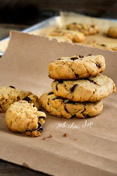 Gluten Free Peanut Butter Chocolate Chip Cookies (like PB chips ahoy, slice and bake)