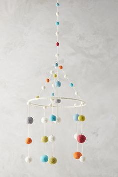 cute and colorful mobile Anthropologie Felted Orbit Mobile #affiliate