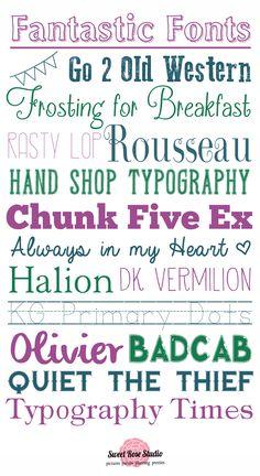 16 Fantastic FREE Fonts at SweetRoseStudio.com #fonts #free    @Debbie Newton  @Jennifer Ladouceur @Monika Duke ...look at the 8th one down...very useful at school!