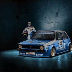 VW Golf Mk1 Race car, Gti Motorsport. Bet its fun!
