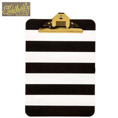 Black Stripe Clipboard