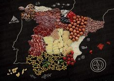 MAPA GASTRONÓMICO DE ESPAÑA  Cantabria sale representada por unas anchoas. Qué opinas?  http://ift.tt/1SZUkyq
