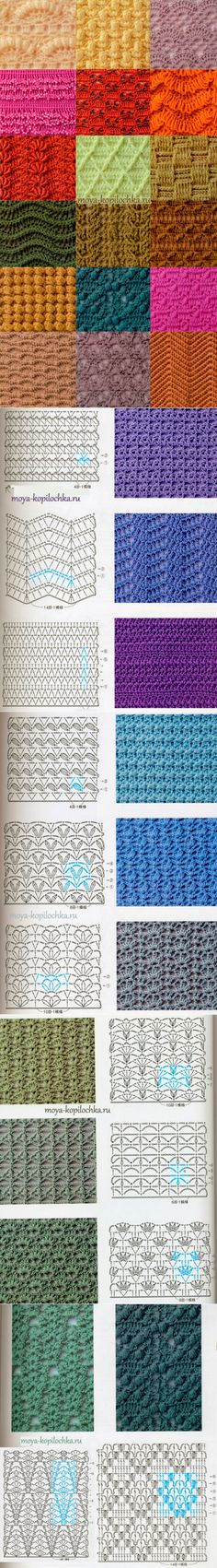 98 patterns and motifs crocheted - Knitting - My dowel